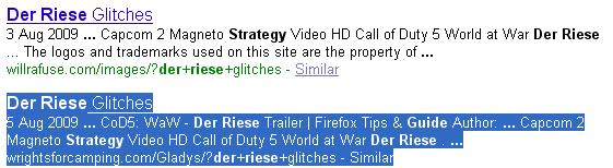 """Der Riese Strategy Guide"" Keyword Targeted By Hackers"